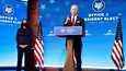 Kamala Harris (vas.) ja Joe Biden 15. tammikuuta Wilmintonissa, Delawaressa.
