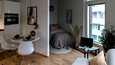 Kun yksiössä on neliöitä 30 tai enemmän, asunnon pohja tarjoaa vaihtoehtoja sisustukseen. Kuvat ovat YIT:n uudiskohteesta Vallilan Konepajan alueella.