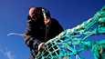 Ranskalainen kalastaja korjasi verkkojaan Boulogne-sur-Merissä 29. tammikuuta.