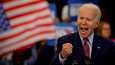 Viime maaliskuussa demokraattien presidenttiehdokkuutta tavoitellut Joe Biden puhui kampanjatilaisuudessa Detroitissa.