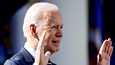 Yhdysvaltain presidentti Joe Biden kuvattuna Valkoisella talolla Washingtonissa viime perjantaina.