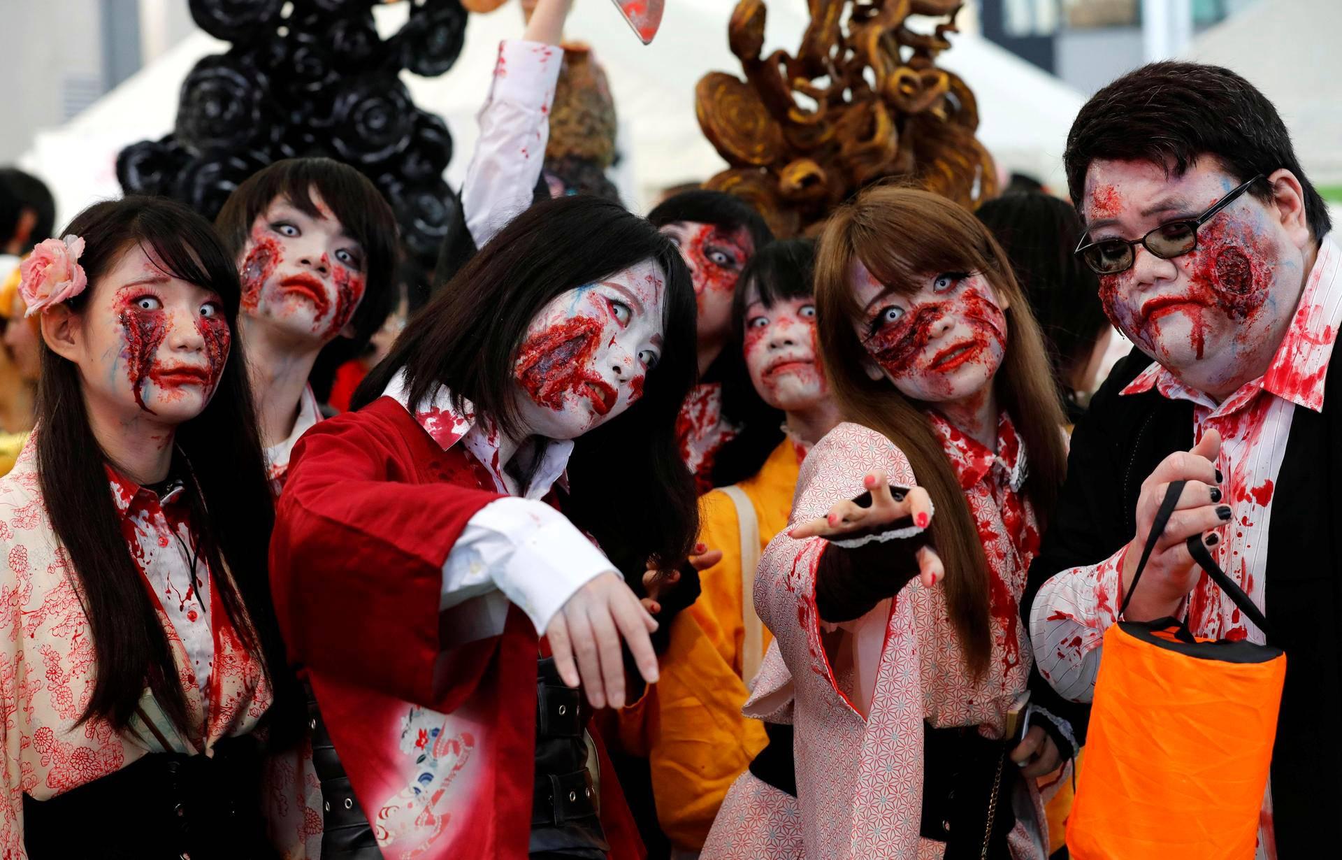 Halloween-juhlijoita Kawasakissa Japanissa.