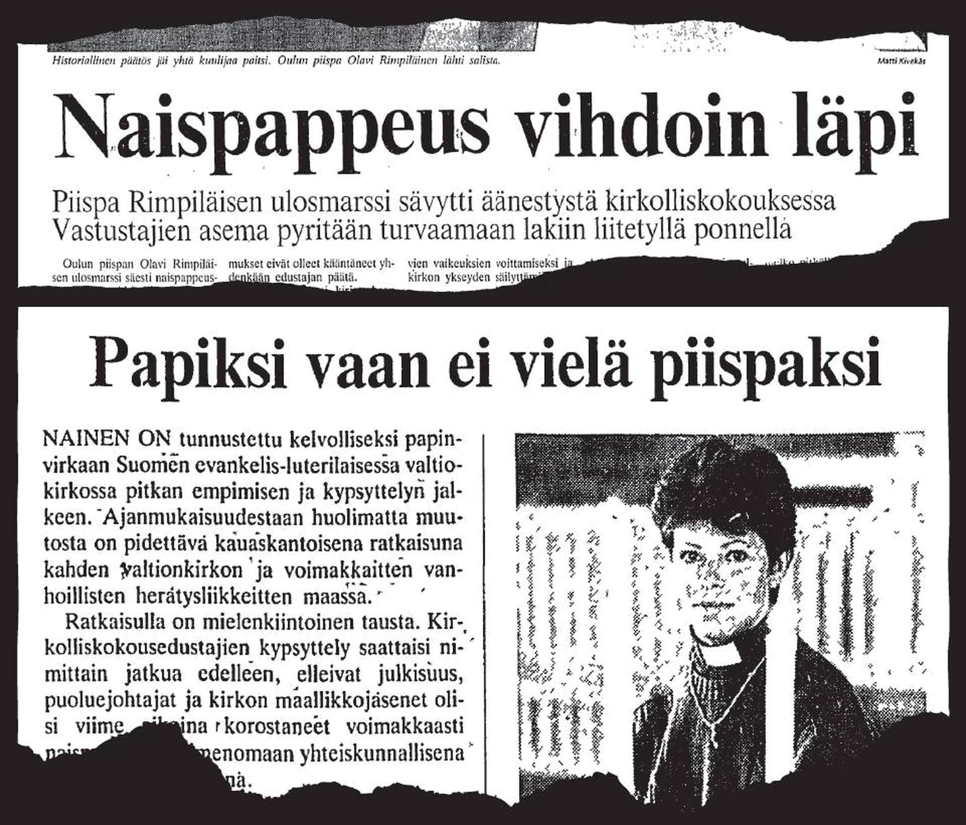 Naispappeus Suomessa