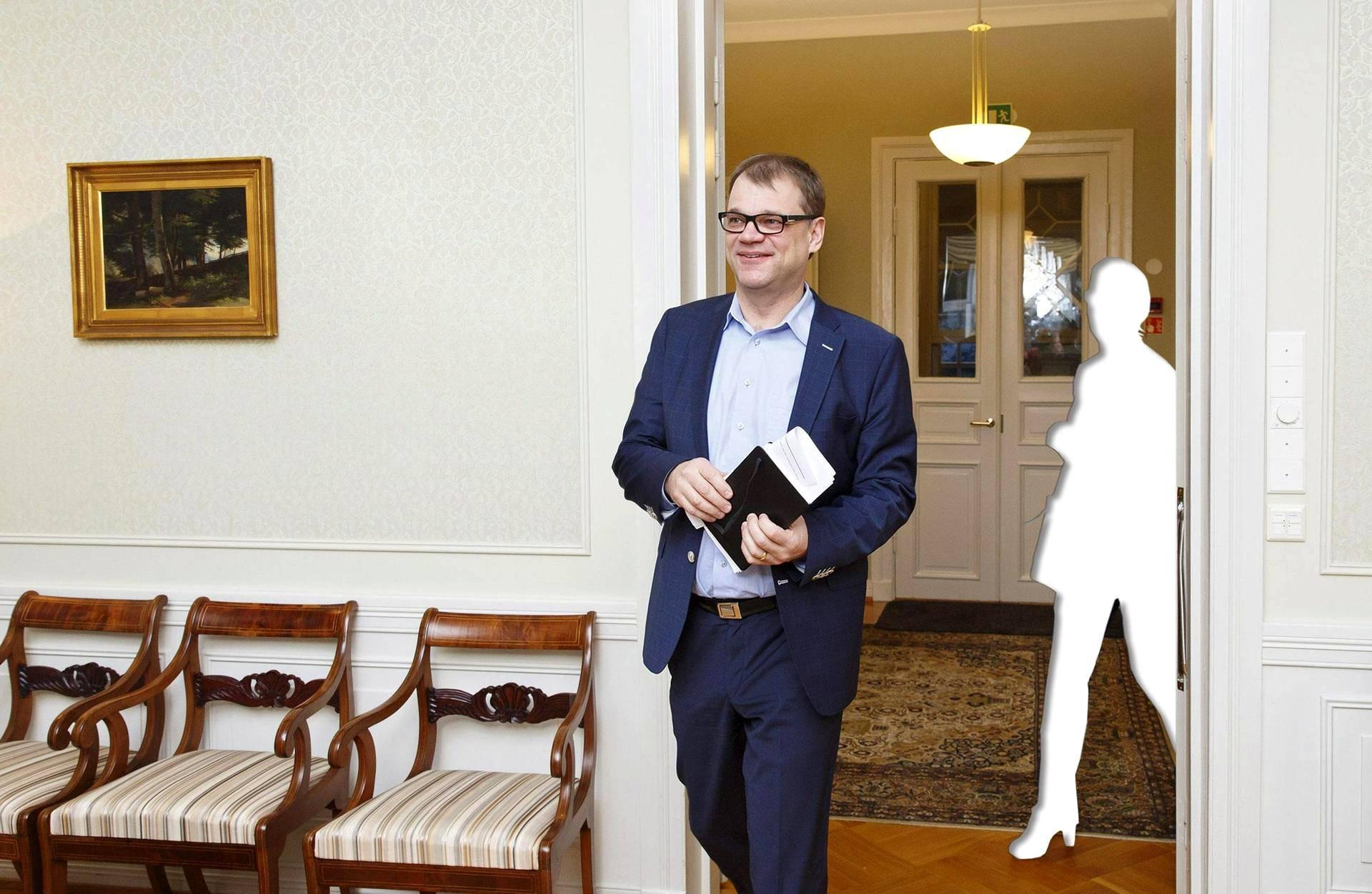 Keskustan puheenjohtaja Juha Sipilä saapui joulun alla Pääministerin haastattelutunnin lähetykseen Kesärannassa.