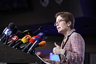 Marie Yovanovitch Ukrainan Kiovassa maaliskuussa 2019.