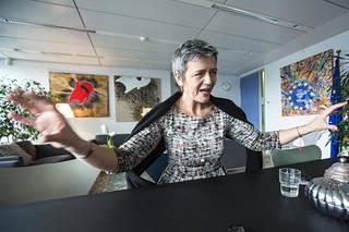 Margrethe Vestager has said that she would like to have another term as competition commissioner.