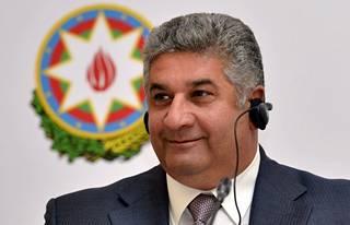 Azerbaidžanin urheiluministeri Azad Ragimov.