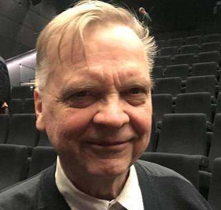 Aimo Ruusunen photographed at Oodi's Gulag seminar in January in Helsinki.