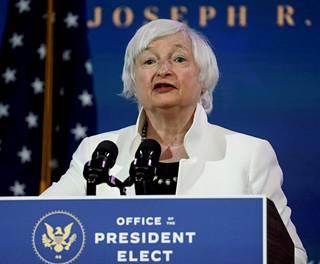 Yhdysvaltain valtiovarainministeri Janet Yellen