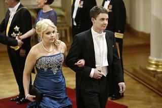 Teemu Nikkanen ja Johanna Olasmaa vierailivat Linnan juhlissa 2012.