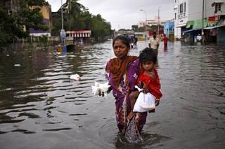 Chennai kärsii ennätystulvista.