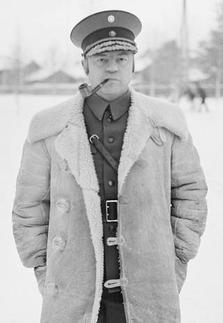 Jääkärikenraali Kurt Wallenius tammikuussa 1940.