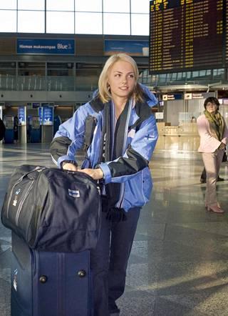 Matkalla olympialaisiin vuonna 2006.