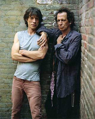 Mick Jagger ja Keith Richards 2000-luvulla.