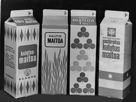 Elannon, Valion, Wickströmin ja Maitokeskuksen uudet kulutusmaitotölkit.