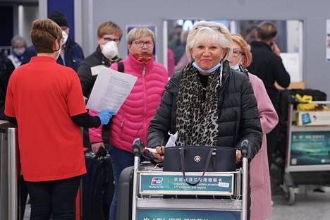 Liisa Jartti saapui Helsinki-Vantaan lentokentälle myöhään keskiviikkoiltana.