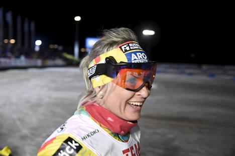 Riitta-Liisa Roponen voitti kaksi mestaruutta Vöyrin edellisissä SM-hiihdoissa vuonna 2011 ja on jälleen mukana, vaikka asuu nyt Yhdysvalloissa.