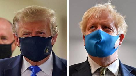 Maskeja väheksynyt presidentti Donald Trump ja Britannian pääministeri Boris Johnson ovat ensimmäistä kertaa esiintyneet julkisuudessa maskit kasvoillaan, mikä kielii asennemuutoksesta.