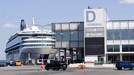 Silja Europa Tallinnan satamassa Virossa 21. kesäkuuta.