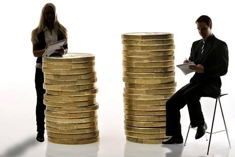 Tutkimuksessa tulojen vertailu ei koske suoraan palkkaeroja, vaan naisten ja miesten kaikkia valtionverotettavia tuloja.