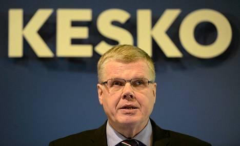 Matti Halmesmäki Keskon tilinpäätösinfossa helmikuussa 2014.