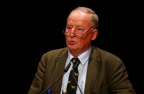 Alexander Gauland puhui kampanjatilaisuudessa Pforzheimissa syyskuun alussa.
