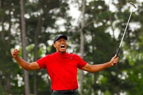 Tiger Woods tuuletti ja karjui Mastersin voittoa rajummin kuin kenties koskaan aikaisemmin.
