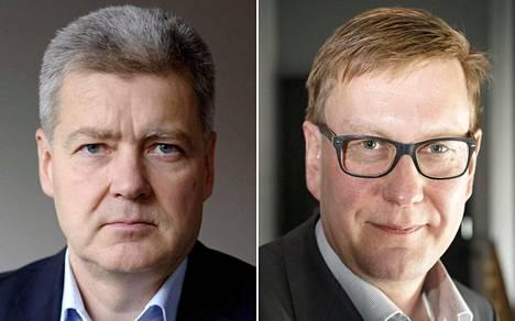 Yleisradion toimitusjohtaja Lauri Kivinen ja vastaava päätoimittaja Atte Jääskeläinen.