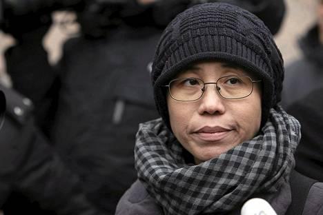 Kiinalaisen Nobel-voittajan Liu Xiaobon vaimo Liu Xia haastattelussa Pekingissä helmikuussa 2010.