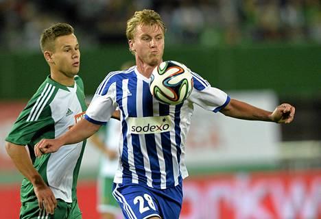 Rasmus Schüller loukkaantui ottelussa Rapid Wieniä vastaan.