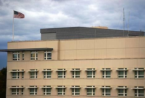Yhdysvaltojen lähetystörakennus Saksan Berliinissä.