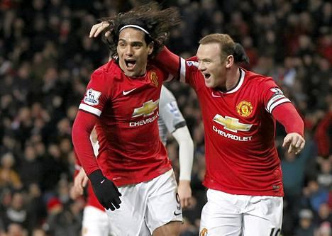 Falcao ja Wayne Rooney olivat Unitedin onnistujia Newcastlea vastaan.