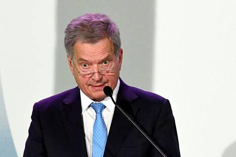 Tasavallan presidentti Sauli Niinistö otti kantaa maalittamista vastaan.