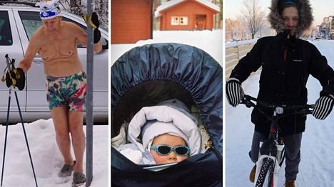 Avantouinti, lasten ulkoiluttaminen ja pyöräily onnistuvat pakkasella, kunhan varusteet ovat oikeat.