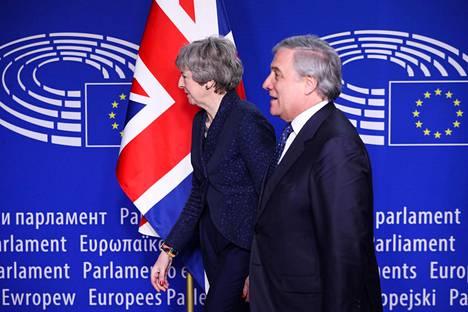 Britannian pääministeri on ollut Brysselissä usein nähty vieras. Helmikuun alussa May tapasi parlamentin puheenjohtajan Antonio Tajanin.