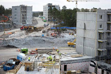 Helsingin Kruunuvuorenrantaan nousee uusia asuntoja.