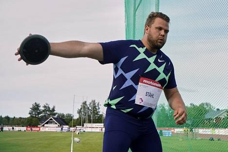 Daniel Ståhl kilpaili Suomessa viimeksi 1. elokuuta Kuortaneella.