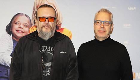 Solar Filmsin omistaja ja vastaava tuottaja Markus Selin ja toimitusjohtaja Jukka Helle Tarhapäivä-elokuvan pressitilaisuudessa vuonna 2019.