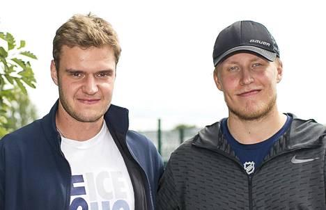 Aleksander Barkov ja Patrik Laine kuvattuna 5. heinäkuuta 2018.
