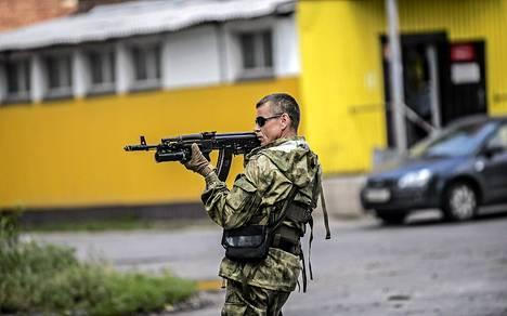 Venäjän-mieliset separatistit hallitsevat Donetskin kaupunkia.
