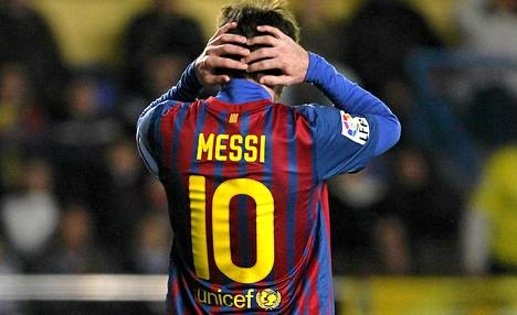Lionel Messi hukkkasi paikkoja lauantain ottelussa Villarrealia vastaan.