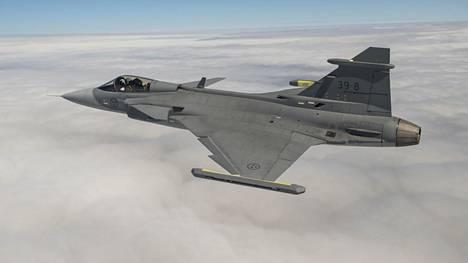 Saab tarjoaa Suomelle uutta Gripen E -mallia, joka on vielä koelentovaiheessa.