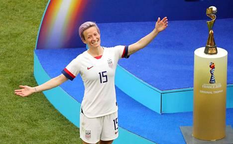 Megan Rapinoe oli yksi Yhdysvaltain voittoisan MM-jalkapallojoukkueen kapteeneista.