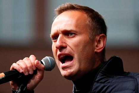 Aleksei Navalnyi puhui Moskovassa viime syyskuussa.