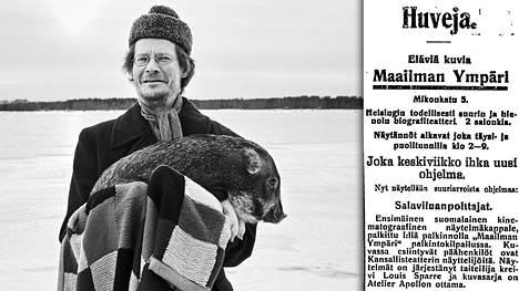 Salaviinanpolttajat oli Suomen ensimmäinen fiktioelokuva. Sen ensi-iltaa mainostettiin Helsingin Sanomissa 29.5. 1907. Elokuvasta on nyt tehty uusi versio, jossa Juha Hurmeen kanssa näyttelee Iiro-niminen porsas.