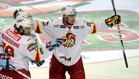 Jokerien Janne Lahti (oik.) on siirtymässä KHL:ään.