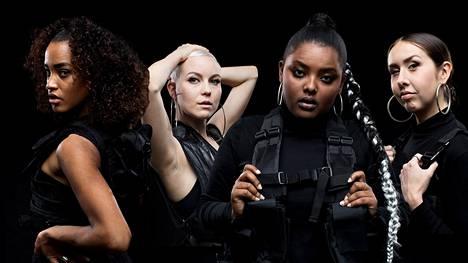Yeboyah, F, B.W.A. ja Adikia ovat suomalaisia naisräppäreitä.