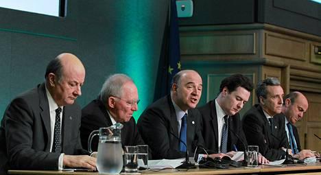 Suurimpien EU-maiden valtiovarainministerit vakuuttivat Dublinissa sitoutumistaan veronkierron vastaiseen taisteluun.