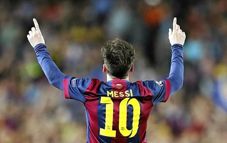 Näin Lionel Messi tuuletti avausmaaliaan.