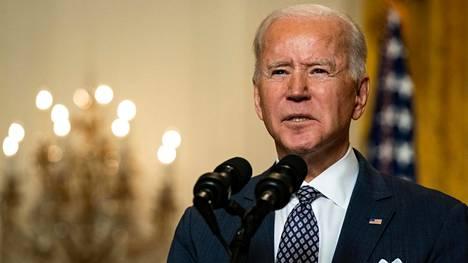 Yhdysvaltain presidentti Joe Biden puhui etäyhteyksien avulla järjestetyssä Münchenin turvallisuuskonferenssissa perjantaina.